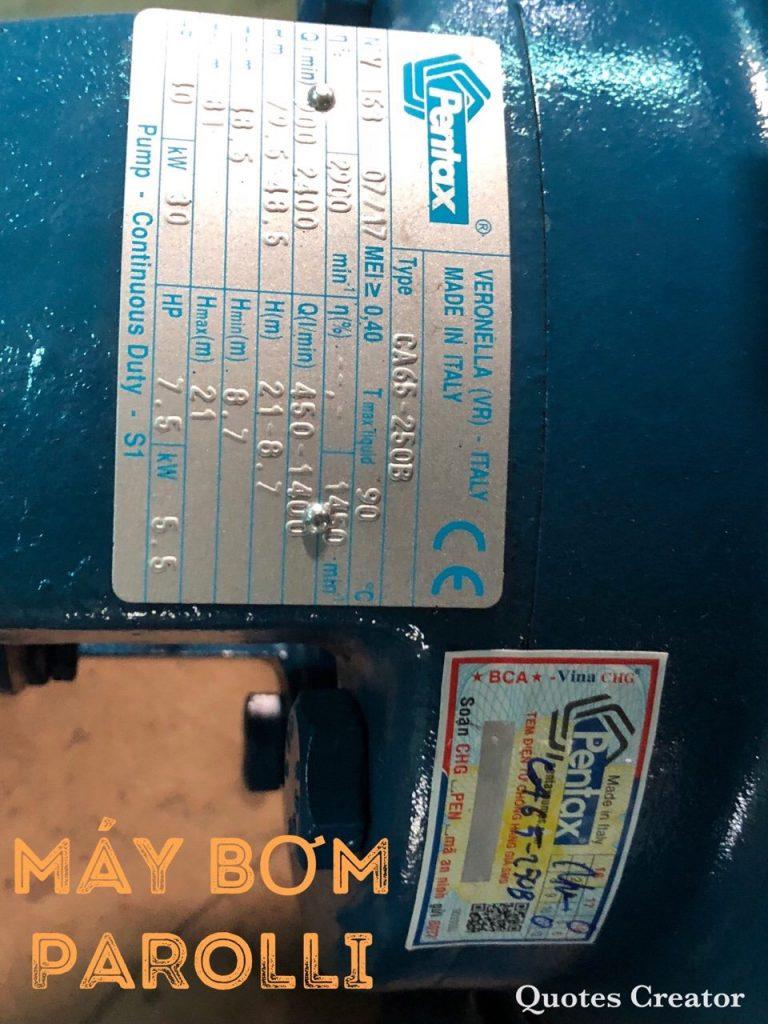 Dòng máy bơm công nghiệp thương hiệu Pentax - ATT. Xuất xứ Italy - Singapore. Cung cấp tại Parroli.vn